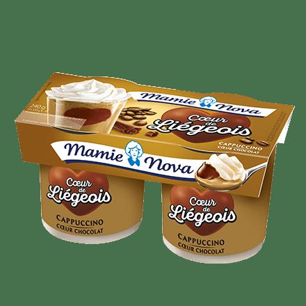 Mamie Nova - Packaging Cœur de liégeois Cappuccino coeur Chocolat