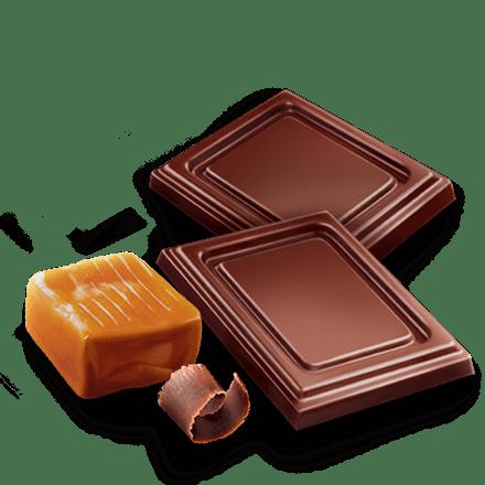 Mamie Nova - Ingrédient Cœur de liégeois Chocolat coeur Caramel Beurre Salé