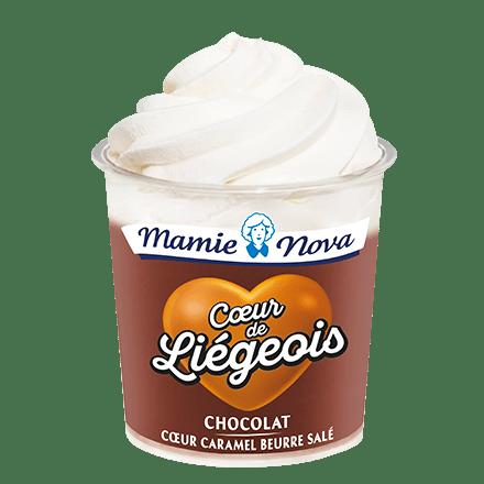Mamie Nova - Packaging Cœur de liégeois Chocolat coeur Caramel Beurre Salé