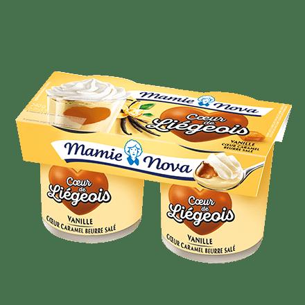 Mamie Nova - Packaging Cœur de liégeois Vanille coeur Caramel Beurre Salé
