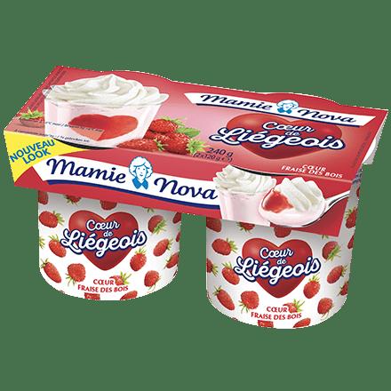 Mamie Nova - Packaging Cœur de liégeois aux fruits Fraise des Bois