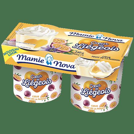 Mamie Nova - Packaging Cœur de liégeois aux fruits Fruit de la Passion