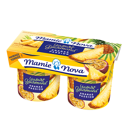 Mamie Nova - Packaging Yaourt Gourmand® aux fruits Ananas Passion