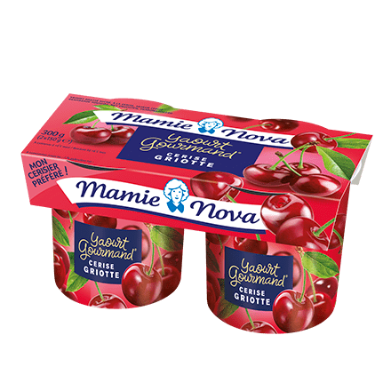 Mamie Nova - Packaging Yaourt Gourmand® aux fruits Cerise Griotte