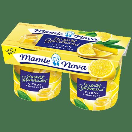 Mamie Nova - Packaging Yaourt Gourmand® aux fruits Citron Lemon Curd