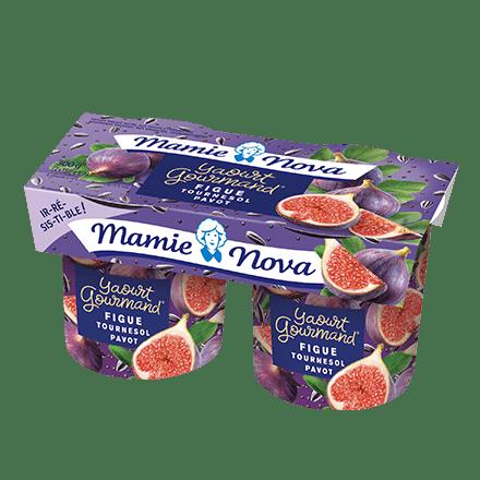 Mamie Nova - Packaging Yaourt Gourmand® aux fruits Figue Tournesol Pavot