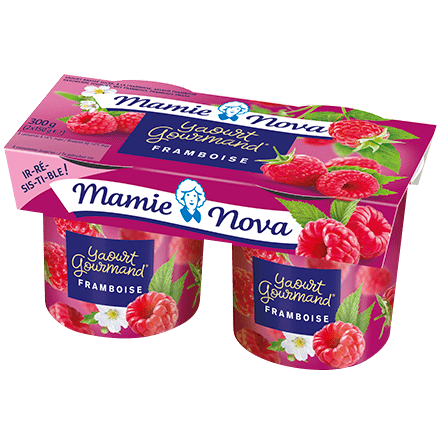 Mamie Nova - Packaging Yaourt Gourmand® aux fruits Framboise