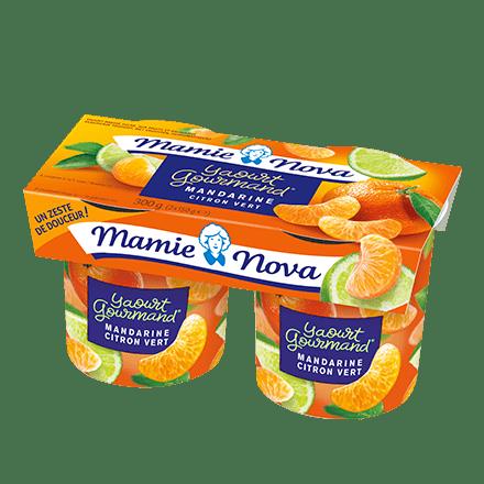 Mamie Nova - Packaging Yaourt Gourmand® aux fruits Mandarine Citron Vert