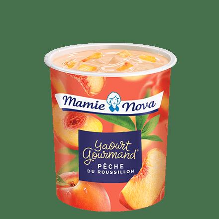 Mamie Nova - Packaging Yaourt Gourmand® aux fruits Pêche du Rousillon