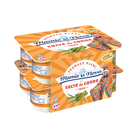 Mamie Nova - Packaging Gamme Quotidienne Fromage Blanc Sucre de Canne Roux