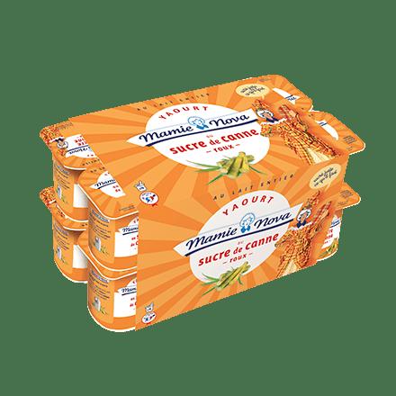 Mamie Nova - Packaging Gamme Quotidienne Yaourt Sucre de Canne Roux