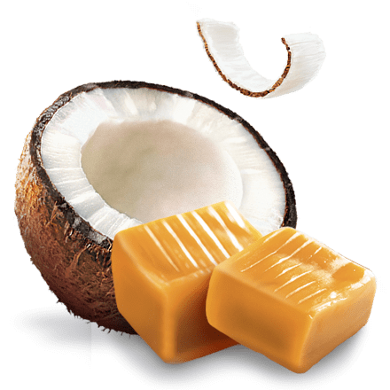 Mamie Nova - Ingrédient Fondant sur Lit Coco sur lit de caramel