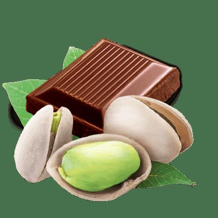 Mamie Nova - Ingrédient Fondant sur Lit Pistache sur lit de chocolat