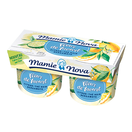 Fleur de Yaourt Citron Thé Noir Bergamote Mamie Nova