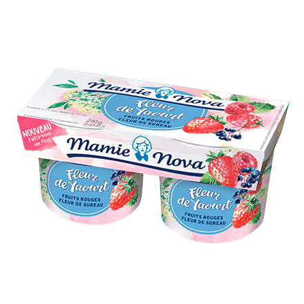Mamie Nova - Packaging Fleur de Yaourt Fruits Rouges Fleur de Sureau