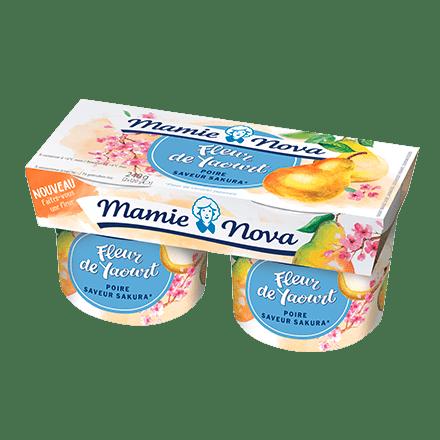 Mamie Nova - Packaging Fleur de Yaourt Poire saveur Sakura