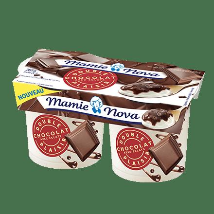 Mamie Nova - Packaging Double Plaisir Dessert Chocolat avec éclats