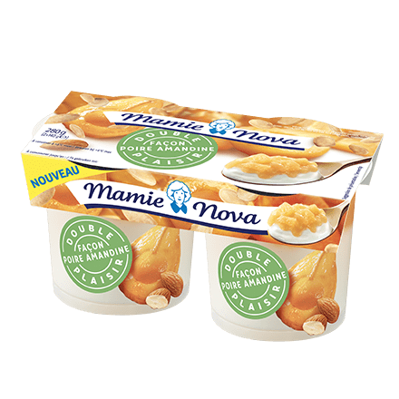 Mamie Nova - Packaging Double Plaisir Dessert Façon poire amandine